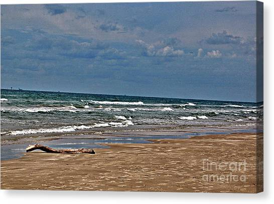 Sea Sand Canvas Print by Ken Williams