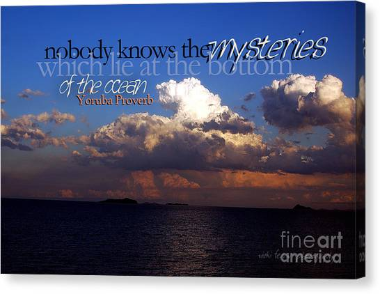 Sea The Mystery Canvas Print
