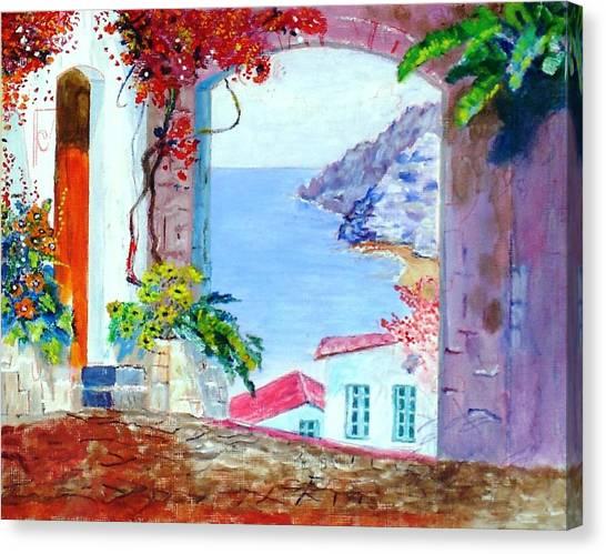Sea View Canvas Print by Kostas Dendrinos