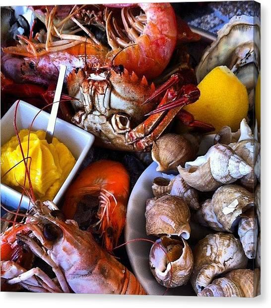 Seafood Canvas Print - #seafood #summer #igdaily #instalove by Adele Sabino
