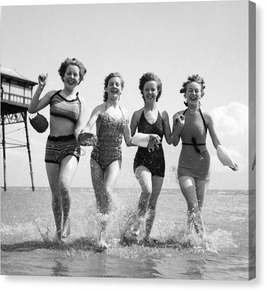 Seaside Fun Canvas Print by Chaloner Woods