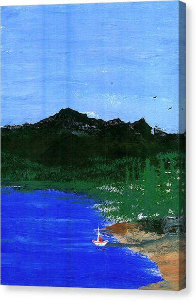 Seaside Canvas Print by Harry Richards