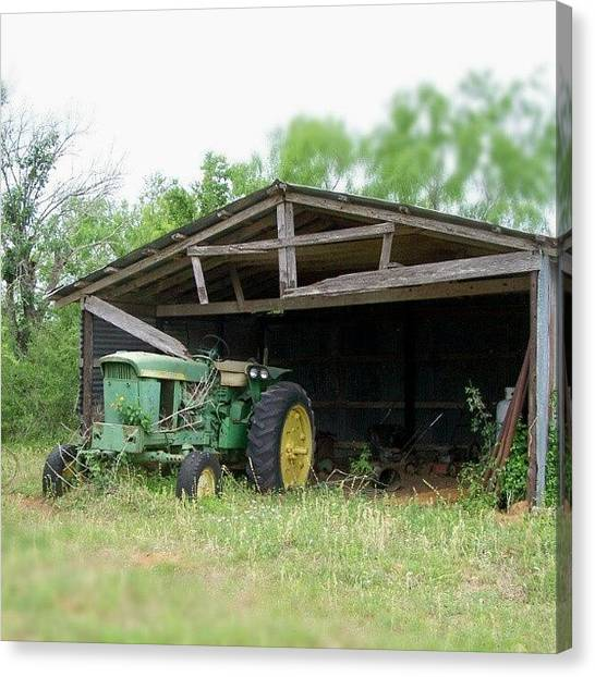 Tractors Canvas Print - Seasons Change... #texas #johndeere by Jedi Fuser