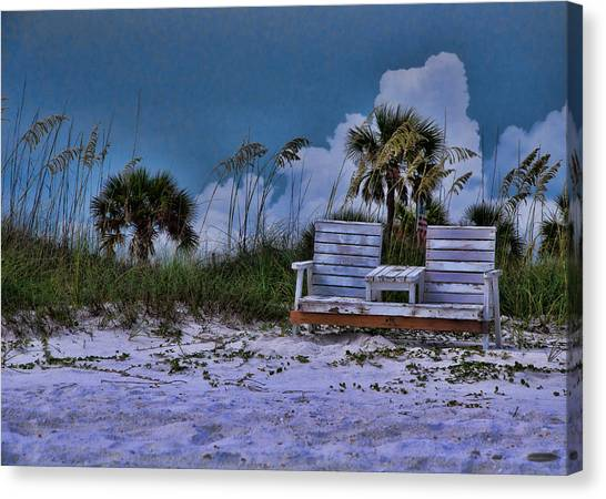 Seat On The Dunes Canvas Print