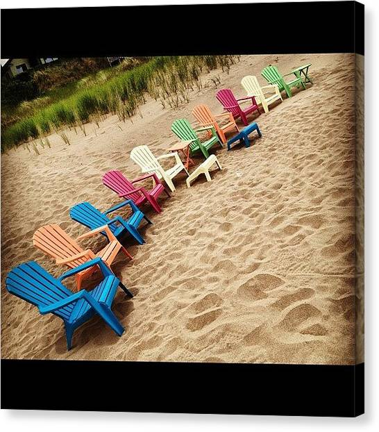 Tables Canvas Print - Seating Is Available by Rex Pennington