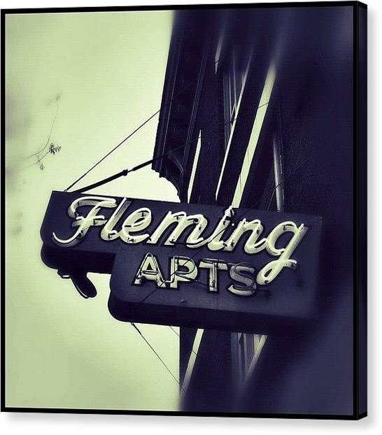 Seattle Canvas Print - #seattle #belltown #oldbuildings #signs by T Catonpremise