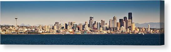 Seattle Cityscape Panorama Canvas Print