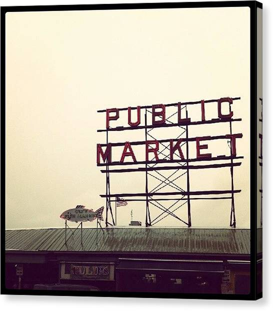 Tulips Canvas Print - Seattle Public Market by Jeremiah Nelson