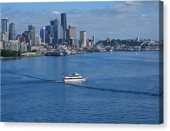 Seattle Skyline 2 Canvas Print