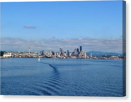 Seattle Skyline 3 Canvas Print