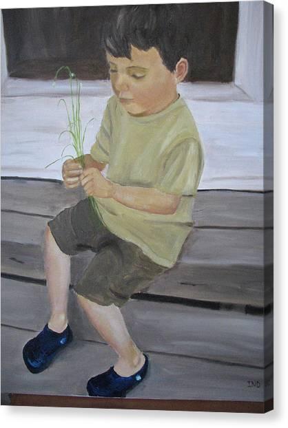 Sebastian Canvas Print by Iris Nazario Dziadul