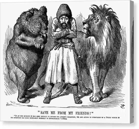Emir Canvas Print - Second Afghan War 1878 by Granger