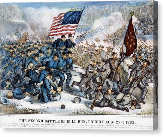 Army Of The Potomac Canvas Print - Second Bull Run, 1862 by Granger