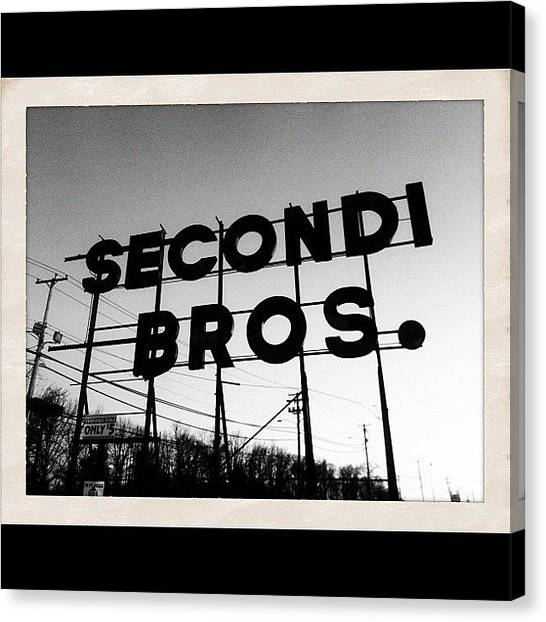 Irish Canvas Print - Secondi Bros. Truck Stop by Irish Mike Rachel