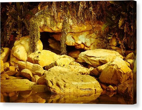 Secret Cave Canvas Print by Miguel Capelo