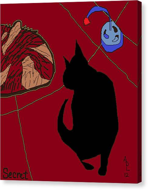 Secret Playing On The Floor Canvas Print