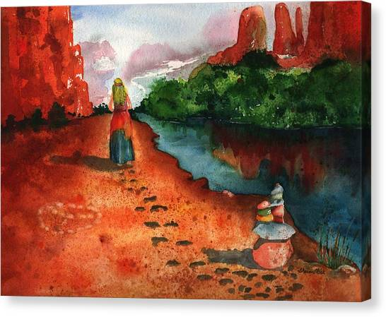 Sedona Arizona Spiritual Vortex Zen Encounter Canvas Print