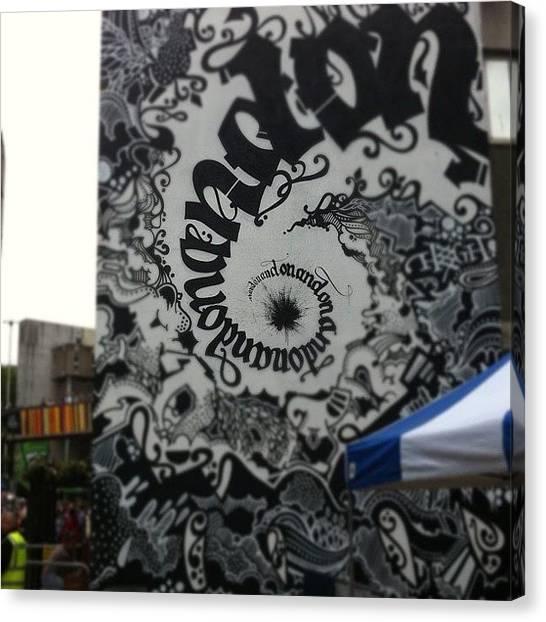 London Tube Canvas Print - #see #no #evil #spraycan #urban #graf by Nigel Brown