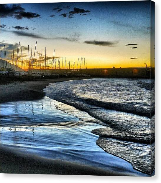 Beach Sunrises Canvas Print - Seems Ages Since I've Been Able To by Tim Brown