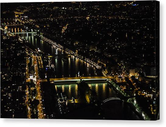 Seine River Atop The Eiffel Tower Canvas Print