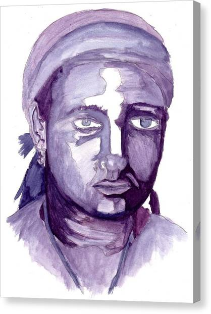 Self Portrait At 19 Canvas Print by Cecelia Taylor-Hunt