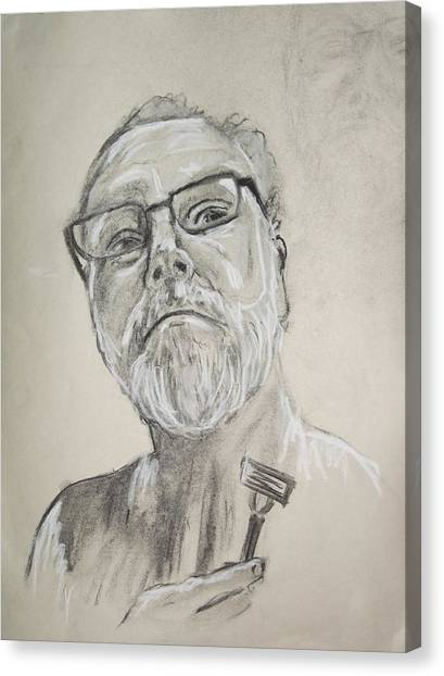 Self Portrait Canvas Print by Peter Edward Green