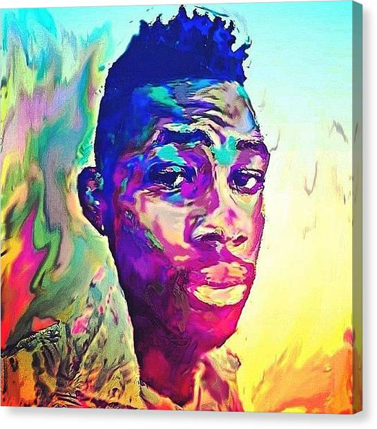 Fauvism Canvas Print - #selfportrait #me #beingmyself #chillin by Aaron Moses