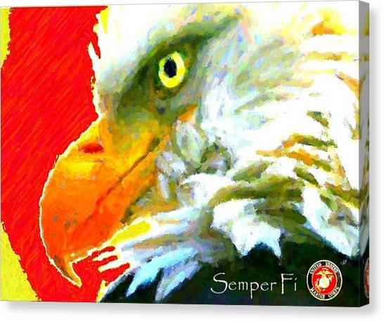Semper Fi Canvas Print by Carrie OBrien Sibley