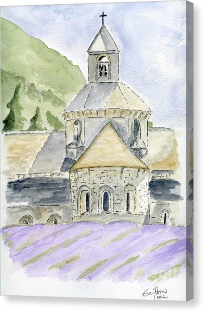 Senanque Abbey Provence Canvas Print