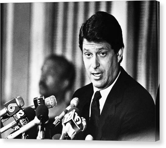Democratic Politicians Canvas Print - Senator Al Gore, At The Democratic by Everett