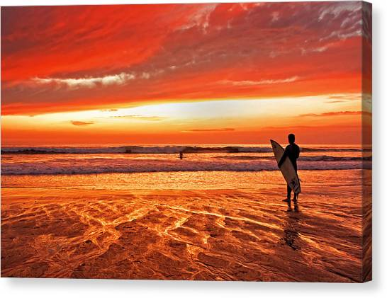 Canvas Print - Sensational Sunset Surf by Donna Pagakis