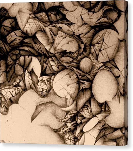 sepia VINTAGE BALLPOINT DETAIL Canvas Print