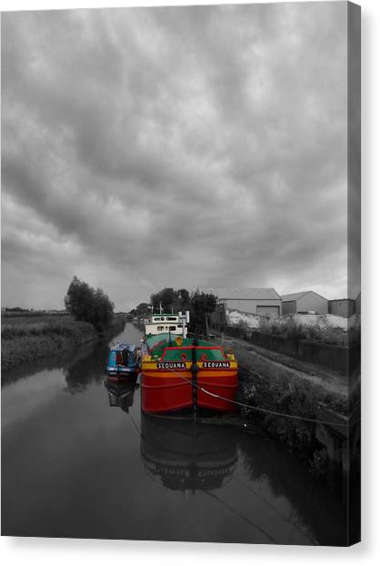 Sequana Beverley Canal Canvas Print