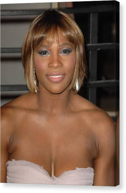 Tennis Pros Canvas Print - Serena Williams At Arrivals For Vanity by Everett