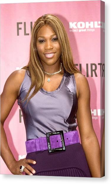 Serena Williams Canvas Print - Serena Williams At The Press Conference by Everett
