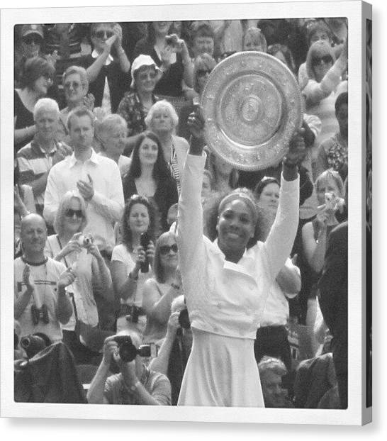 Tennis Pros Canvas Print - Serena Williams -ladies Final At Wimbledon 2012 by Lottie H
