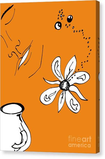 Serenity In Orange Canvas Print