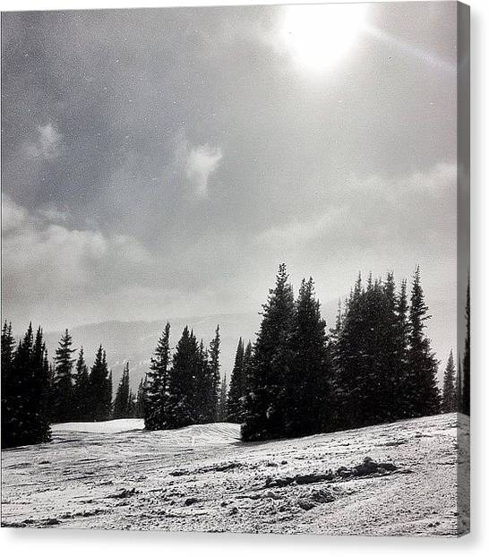 Snowboarding Canvas Print - Serenity by Ryan K