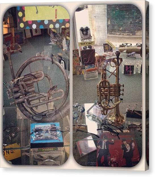 Instrument Canvas Print - Serious, Eyeglass Place On Market St by Rob Murray