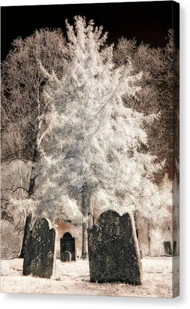Setauket Graveyard Canvas Print