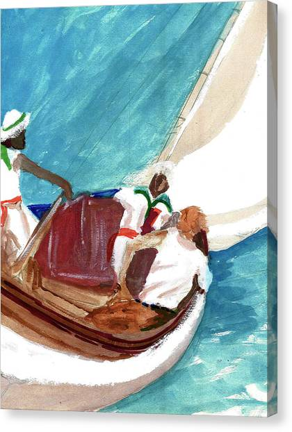 Setting Sail Canvas Print by Harry Richards