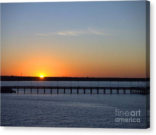 Setting Sun Canvas Print by Arthur Herold Jr