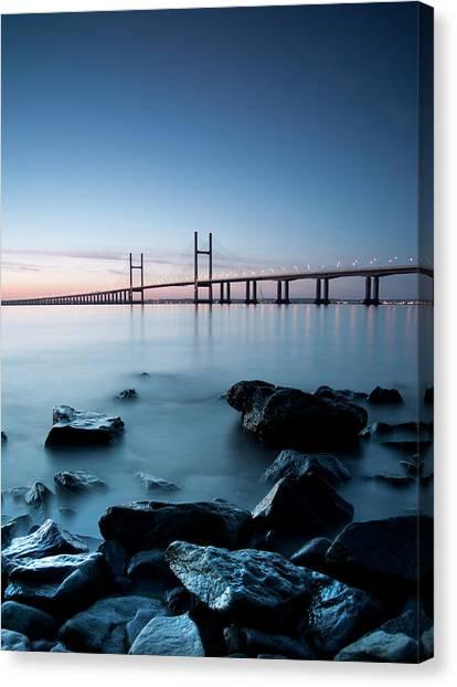 Severn River Canvas Print - Severn Estuary by C T Aylward