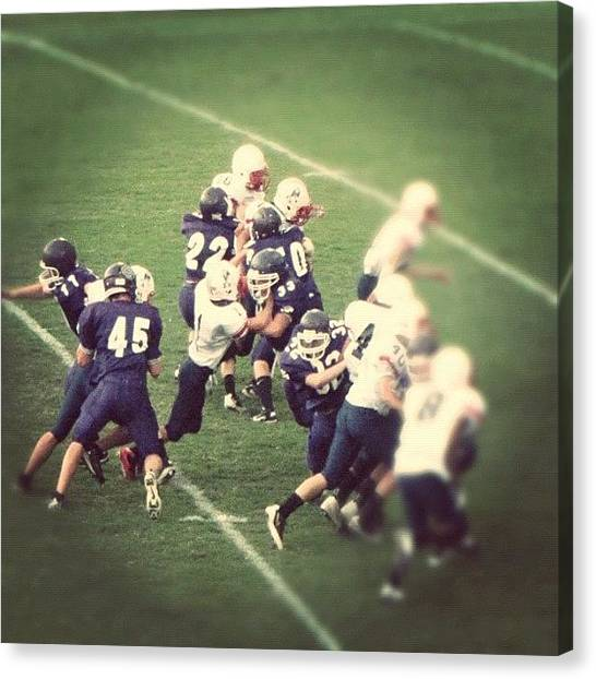 Football Teams Canvas Print - #sevierville #freshmen by S Smithee
