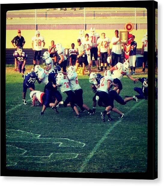 Football Teams Canvas Print - #seviervillehighschool #bears #freshmen by S Smithee