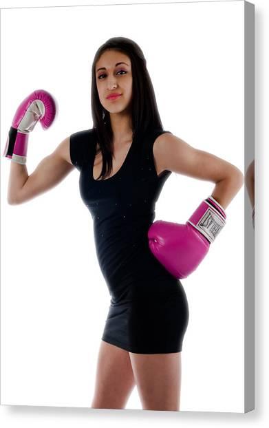 Sexy Boxer Canvas Print