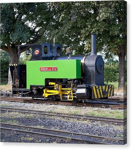 Locomotive Canvas Print - sezela No 4 At Leighton Buzzard On by Dave Lee