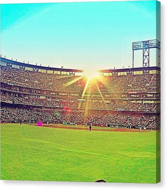 San Francisco Giants Canvas Print - Sf Giants Rock by Karen Winokan