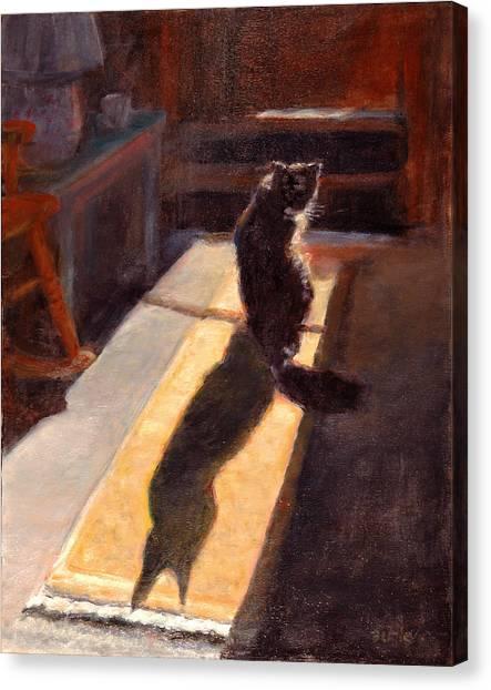 Shadow Cat Canvas Print by Rita Bentley