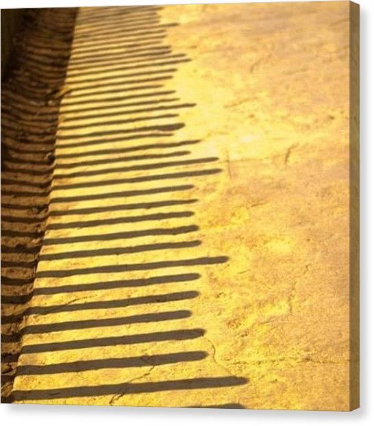 Racing Canvas Print - #shadow #morocco #rabat #way #2012 #red by Omar Chawki